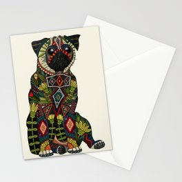 pug love ivory Stationery Cards