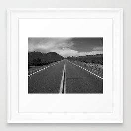 California desert road 14 off the 295 Framed Art Print