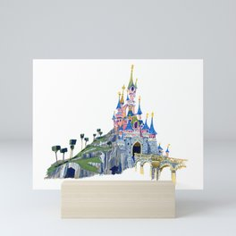 Princess Castle / Sleeping Beauty / Disneyland Paris / Fine Art Giclee Print Mini Art Print