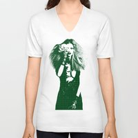 calvin hobbes V-neck T-shirts featuring Fashion Lara Stone Calvin Klein by fashionistheonlycure