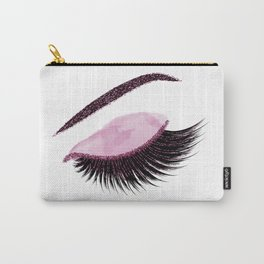 Glittery burgundy lashes Carry-All Pouch