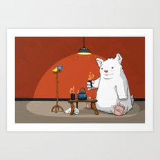 Tea for Three Art Print