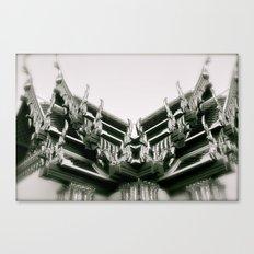 Ornate Rooftops at Wat Po a beautiful temple in Bangkok Canvas Print