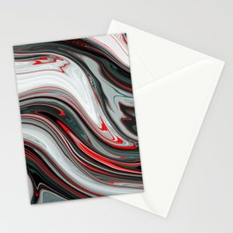 Silver red flow Stationery Cards