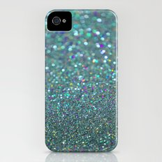 Partytime in Teal iPhone (4, 4s) Slim Case