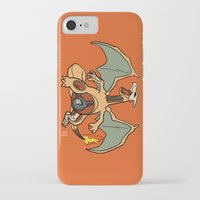 charizard iPhone & iPod Cases featuring Charizard Anatomy by Logan Niblock