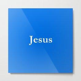 Jesus 6 blue Metal Print