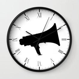 Megaphone Silhouette Wall Clock