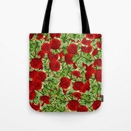Painting the Roses Red Tote Bag