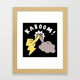 Thunderclap Framed Art Print