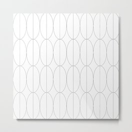 Lines Decorative Black & White 3 Metal Print