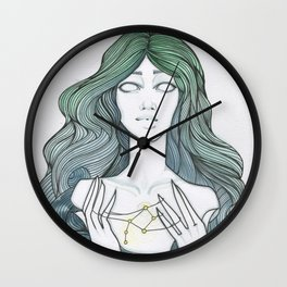 Playing with the stars, loving with the moon, dying with the sun. Wall Clock