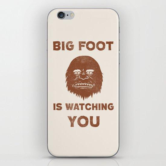 Big Foot Is Watching You iPhone & iPod Skin