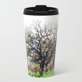 Oak Metal Travel Mug