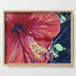 Hibiscus Serving Tray