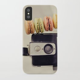 A Brownie and some macarons iPhone Case