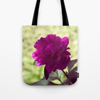 dc Tote Bags featuring DC Flowers by Danielle