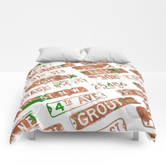 Car plates Comforters