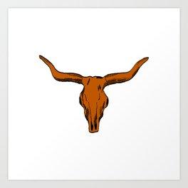 Texas University longhorns football college sports team fan Art Print