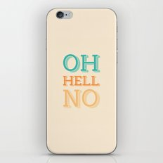Hell No iPhone & iPod Skin