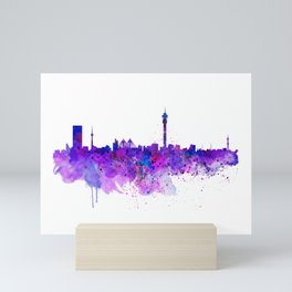Johannesburg Skyline Mini Art Print