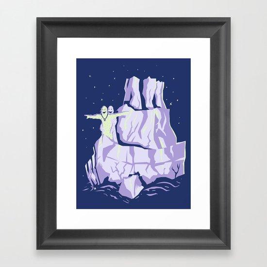 yeti titanic  Framed Art Print