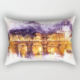Holy Angel Bridge and St. Peter's Basilica Rectangular Pillow