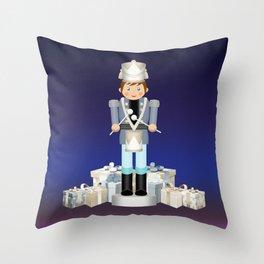 Little Drummer Boy on Christmas Eve Throw Pillow