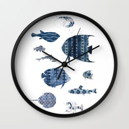 Shibori Sea Wall Clock