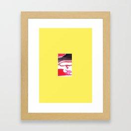 Wispy minimal painting Framed Art Print