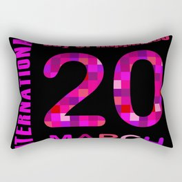 International Day of Happiness- Commemorative Day March 20 Rectangular Pillow