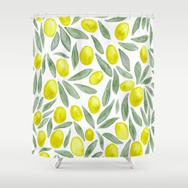 Green Olives Shower Curtain