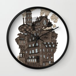 Flying city. Wall Clock