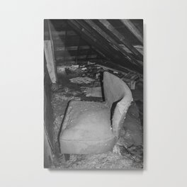 Attic, Yellow House, Arena, ND 3 Metal Print