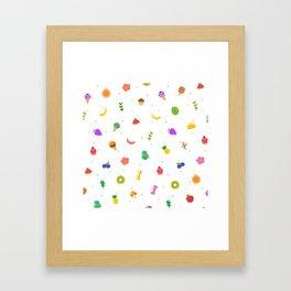 Food pattern Framed Art Print