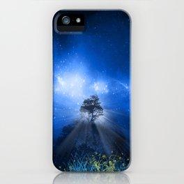 blue night landscape iPhone Case