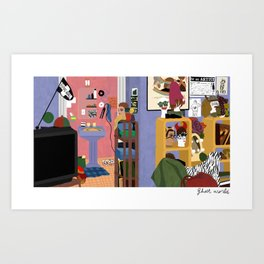 Enid's Bedroom - Ghost World Art Print
