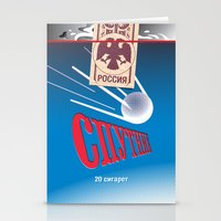 cigarettes Stationery Cards featuring SPUTNIK Cigarettes by Billy Davis