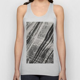 Abstract Marble - Black & Cream Unisex Tank Top