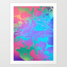 fluo marble Art Print