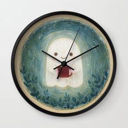 Little ghost with mug Wall Clock