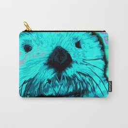 Sea Otter, mint green Carry-All Pouch