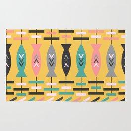 Fish aztec pattern- yellow Rug