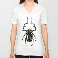 insect V-neck T-shirts featuring INSECT №1 by Reel Feel