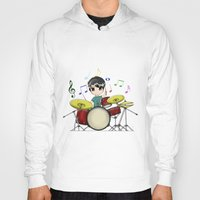 chibi Hoodies featuring Chibi Drummer by Jelo
