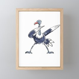 Cute Animal Dab Ostrich Framed Mini Art Print