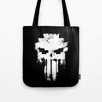 punisher Tote Bags featuring Space Punisher by RicoMambo