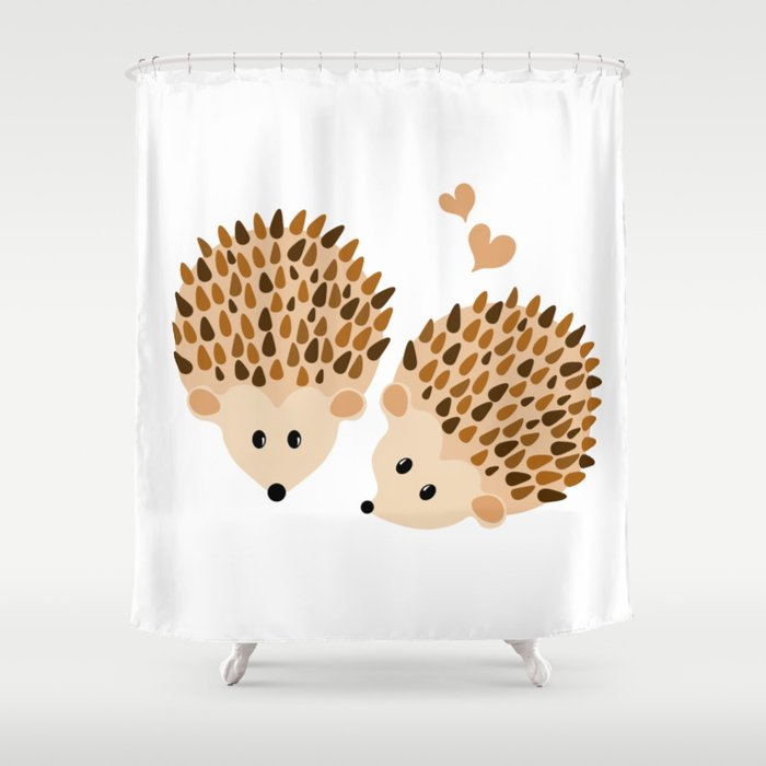 Hedgehogs Shower Curtain By Vanessagf