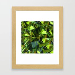 AUGUST BABIES GREEN PERIDOT BIRTHSTONE GEM Framed Art Print