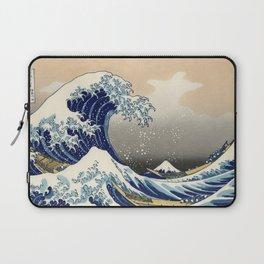 Wave Woodblock Print Laptop Sleeve
